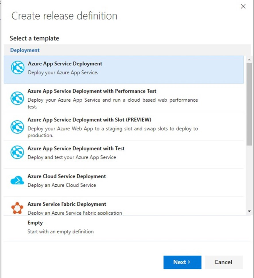 Azure cloud service deployment slots software